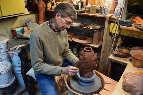 Bill Hartley in his studio.